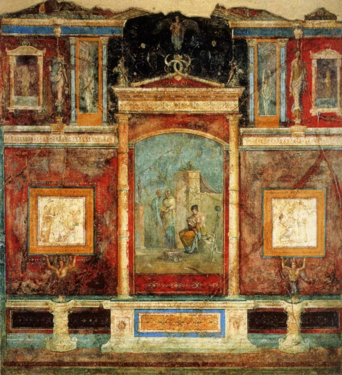 20 peinture murale du second style rome villa de la farnesine mural. Black Bedroom Furniture Sets. Home Design Ideas