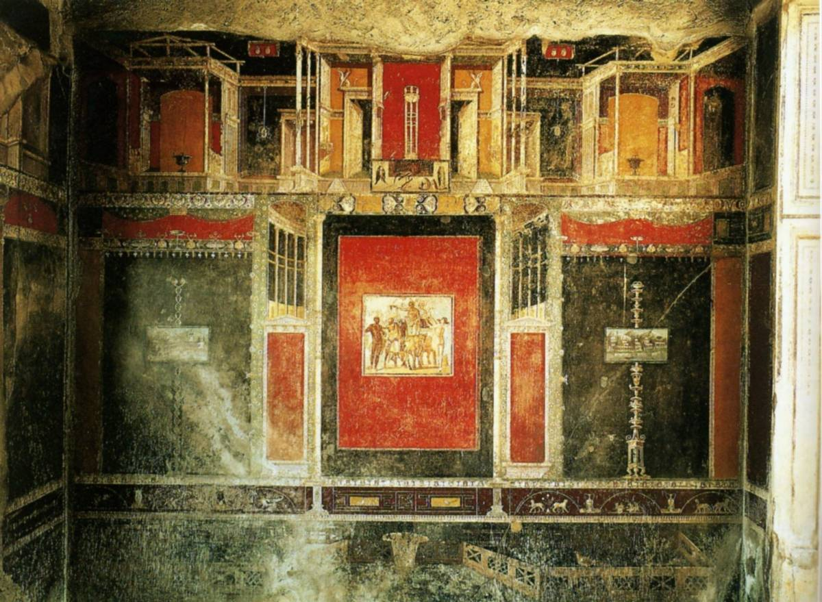 55 decor mural du troisieme type pompei mural decoration - Decor mural original ...