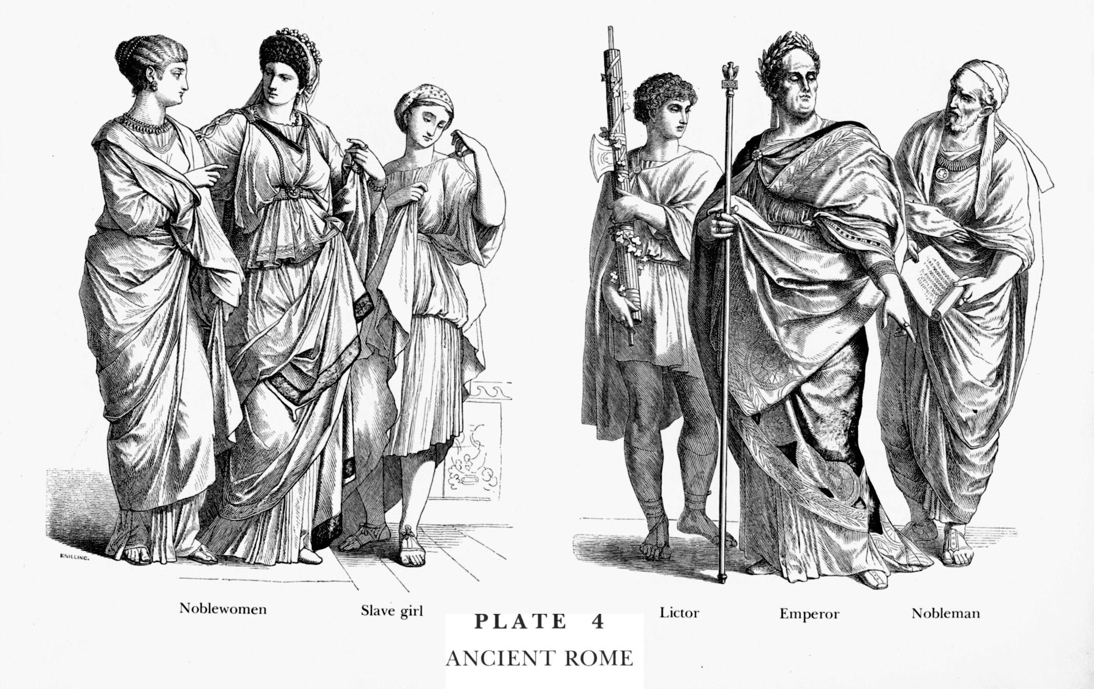 Ancient latins illustration the