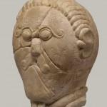 Tête sculptée en calcaire, III-IIe siècles av. J.-C., Mšecké Žehrovice (Bohème)
