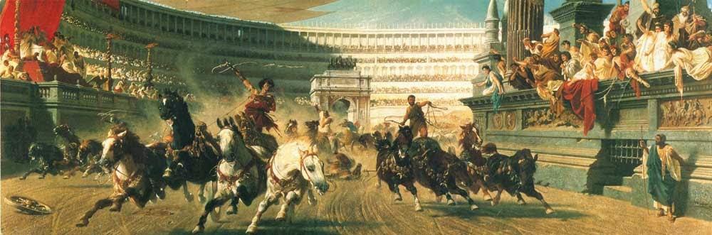 Sándor Wagner, La course de Chars, 1898, Manchester Art Gallery
