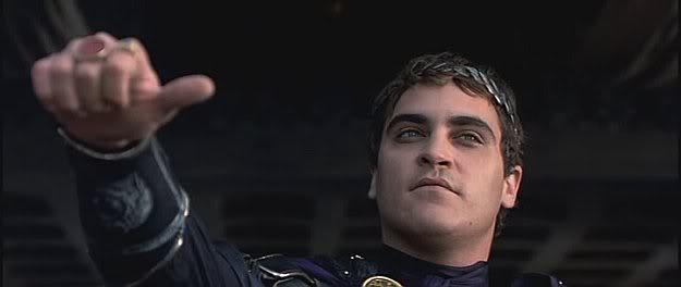 Joachim Phenix, dans le rôle de l'empereur Commode (Gladiator, Ridley Scott, 2000)