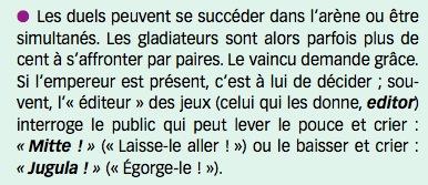 """Extrait de Latin 4ème, Nathan // Chapitre 3 """"Spectacles cruels"""" - civilisation : """"Grands Spectacles !"""""""