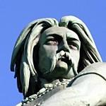 Détail de la statue de Vercingétorix à 'Alise-Sainte-Reine, 1865, Aimé Millet