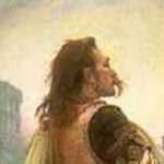 Détail du tableau Vercingétorix jette ses armes aux pieds de César (1899), de Lionel Royer