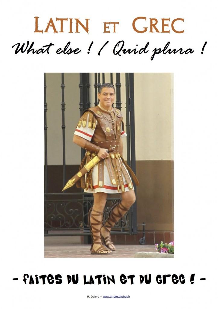 Affiche Faites du Latin - what else - quid plura