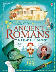 Ancient romans stickers book