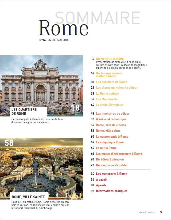 Favori MAGAZINE • Rome, ville éternelle – Carnets de Voyage #14 – Arrête  WQ59