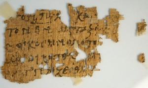 New York Times / Un papyrus de 250/300 découvert... sur ebay