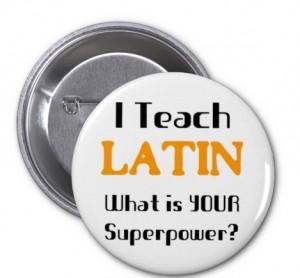 Badge pour professeur de langues anciennes