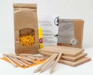 Un kit pour fabriquer trois tablettes de cire