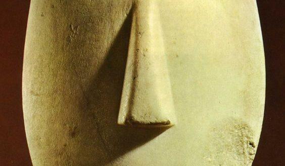 La visite au Louvre : La tête des Cyclades