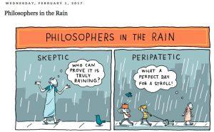 Grant Snider / Réactions philosophiques face à la pluie