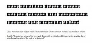 Serez-vous capable de déchiffrer cette phrase d'un copiste du Moyen-Age sans regarder la traduction?