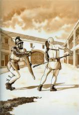 Des auteurs BD dessinent les gladiateurs @ Musée gallo-romain de Saint-Romain-en-Gal  | Saint-Romain-en-Gal | Auvergne-Rhône-Alpes | France