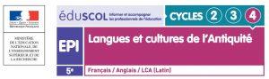 """Un exemple d'EPI LCA en 5è sur Eduscol : """"la grammaire au plateau - théâtre et didactique interdisciplinaire des langues"""""""
