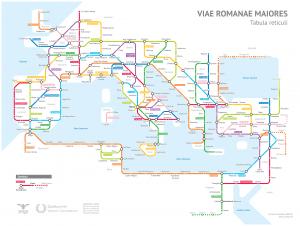 """Une carte des routes de l'empire à la façon """"carte de métro"""""""
