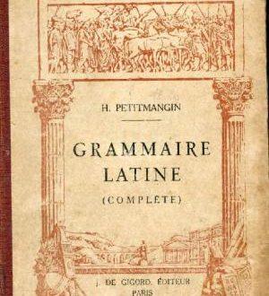 Grammaire latine de Petitmangin en version libre