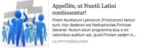 Appellate, ut Nuntii Latini continuentur!
