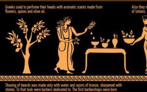 Infographie : Soin des cheveux et secrets de beauté dans la Grèce et la Rome antiques