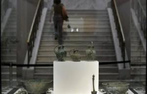 Grèce: des pièces antiques dérobées au musée des jeux Olympiques, à Olympie