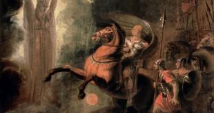 La déesse Rome apparaissant à Jules César au bord du Rubicon, Richard Westall (1793)