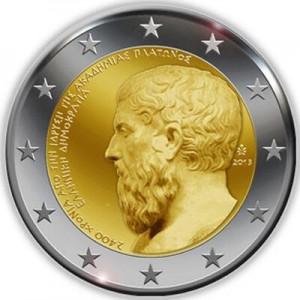 la Grèce édite une pièce de 2€ avec portrait de Platon