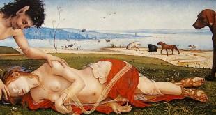 Un satyre pleurant sur une nymphe, Piero di Cosimo (1495)