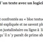 Faire le découpage grammatical d'un texte en langues anciennes avec un logiciel de traitement de texte ou un éditeur de texte collaboratif
