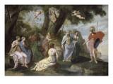 Minerve chez les Muses - Jacques Stella - vers 1640
