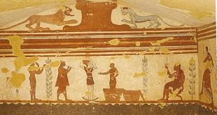 Nécropole de Monterozzi (Tarquinia) : tombe des jongleurs