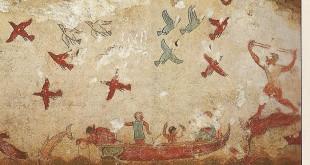 Nécropole de Monterozzi (Tarquinia) : tombe de la chasse et de la pêche