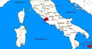 Carte animée de l'expansion du territoire romain dans la 1ère moitié de la République (500-218 avant J.C.)