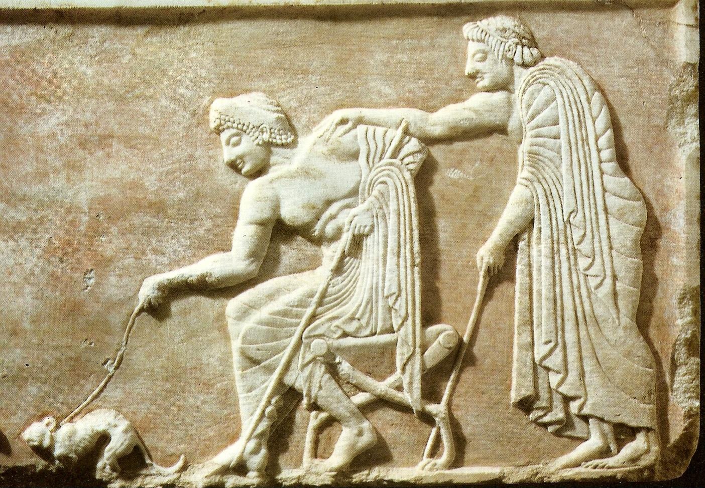Grece sculpture grecque archa que arr te ton char for Dans jeannot et colin l auteur combat