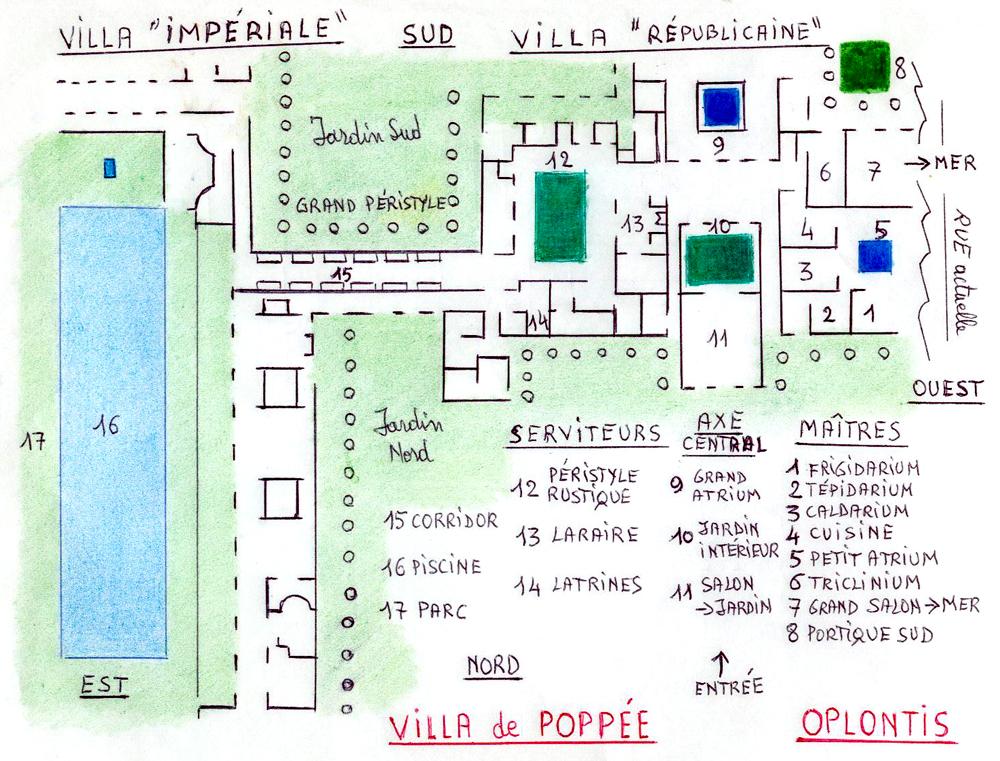 Plan De La Villa Des Myst Ef Bf Bdres  Ef Bf Bd Pomp Ef Bf Bdi