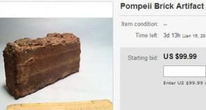 Une brique de l'ancienne cité de Pompéi en vente sur ebay !