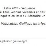 Dominus interfectus est ! (activité - niveau 5ème/4ème)