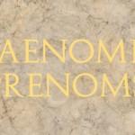 Prénoms latins et leurs correspondants en français