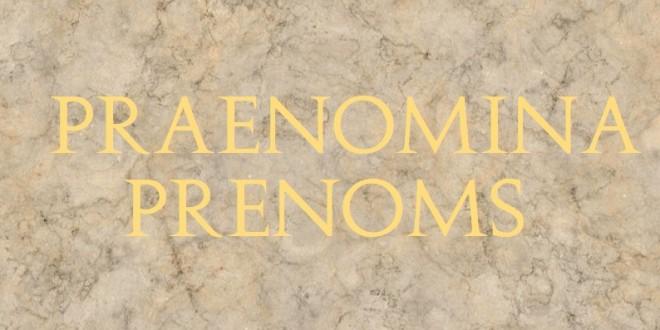 prenom latin