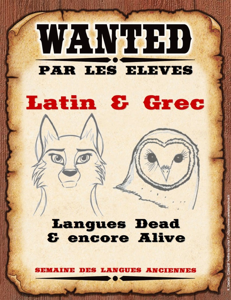 wanted latin grec - semaine LCA - SMALL