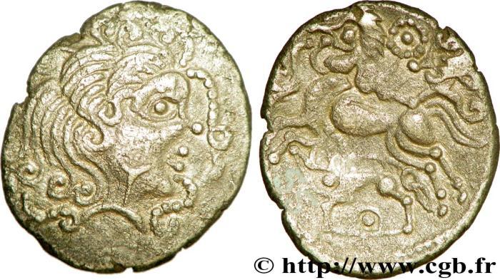 statère d'or attribué aux Vénètes, région de Vannes, IIe-Ier siècles avant J-C