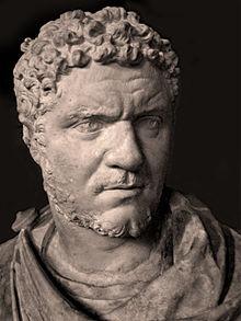 Détail d'un buste de Caracalla (musée du Louvre, Ma1106) - Image sous CC wikipedia