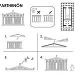 Le plan à monter du Parthenon