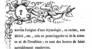 DEPASSE, René - Promenade étymologique.