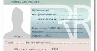Carte d'identité / Tessera agnitionalis de l'élève latiniste