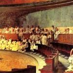 Cicéron dénonce Catilina, fresque de Cesare Maccari