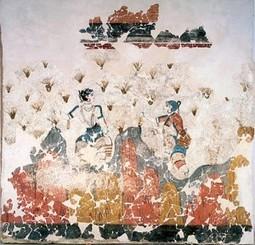 Couleurs dans la Grèce antique : Crête et Santorin