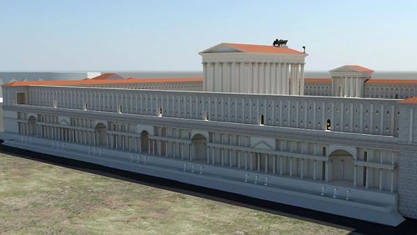 « Le nymphée construit par Néron le long de la terrasse du temple au divin Claude »