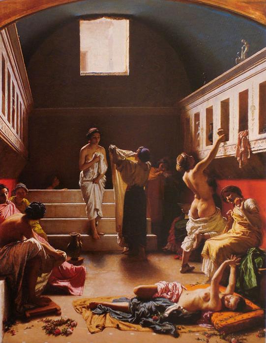 il-bagno-pompeiano-pintado-por-domenico-morelli-em-1861