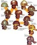 Une image intéressante pour le cours : l'évolution du casque romain